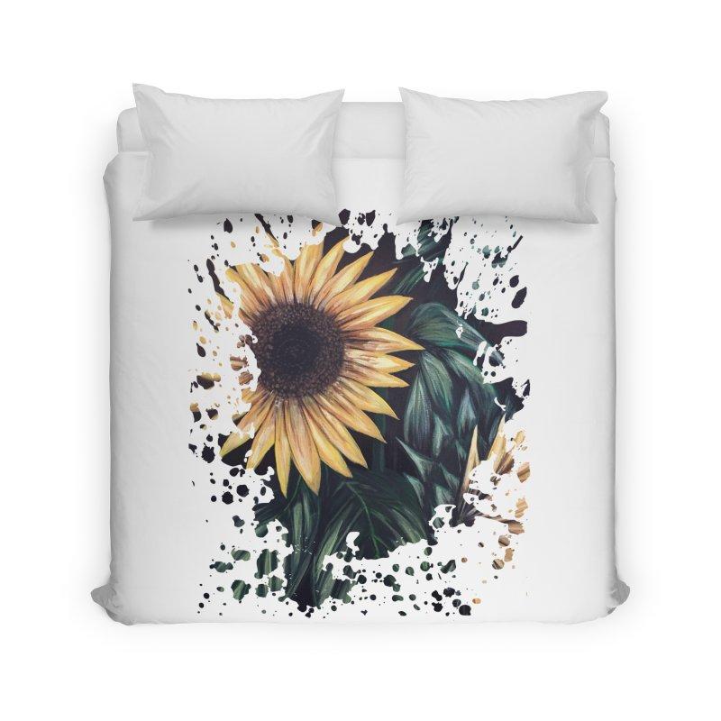 Sunflower Life Home Duvet by adamzworld's Artist Shop