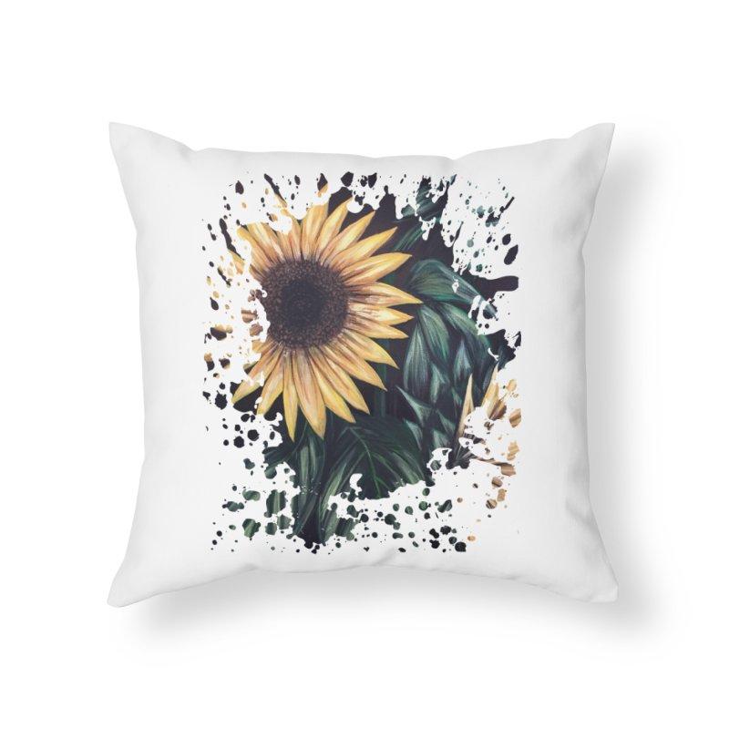 Sunflower Life Home Throw Pillow by adamzworld's Artist Shop
