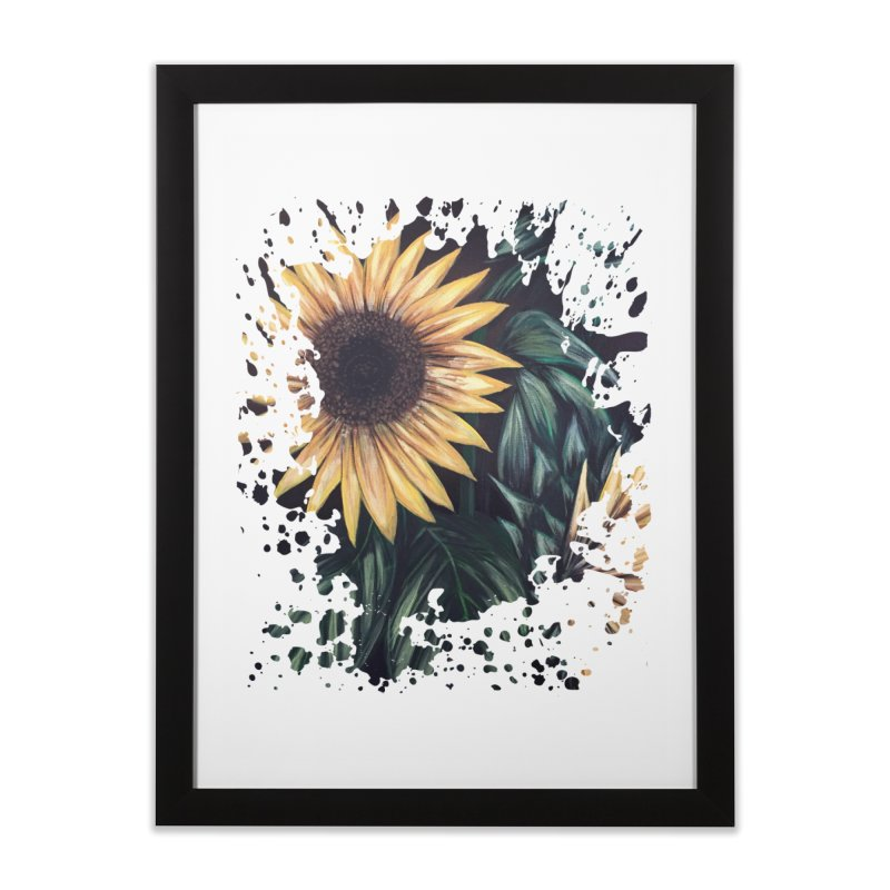 Sunflower Life Home Framed Fine Art Print by adamzworld's Artist Shop