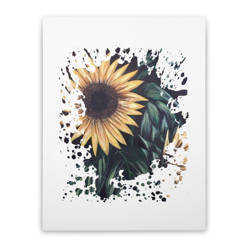 Sunflower Life Home Stretched Canvas by adamzworld's Artist Shop