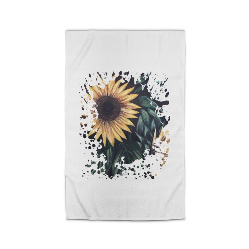 Sunflower Life Home Rug by adamzworld's Artist Shop