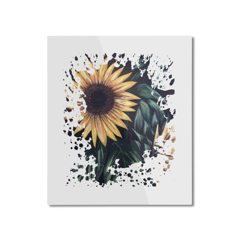 Sunflower Life Home Mounted Aluminum Print by adamzworld's Artist Shop