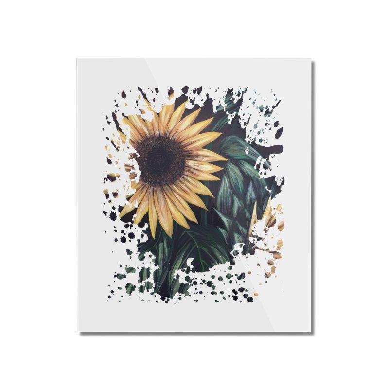 Sunflower Life Home Mounted Acrylic Print by adamzworld's Artist Shop
