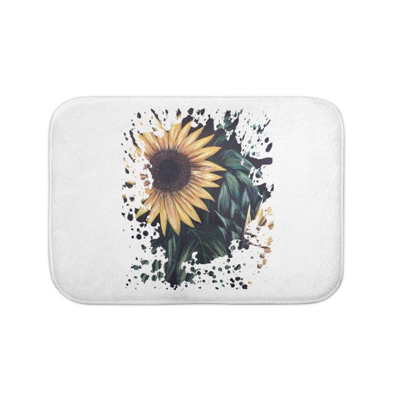 Sunflower Life Home Bath Mat by adamzworld's Artist Shop