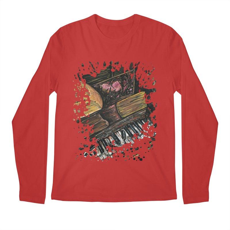 Broken Piano Men's Longsleeve T-Shirt by adamzworld's Artist Shop