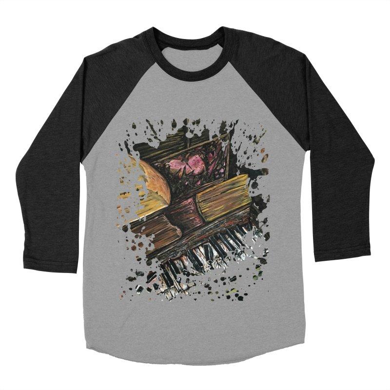 Broken Piano Women's Baseball Triblend T-Shirt by adamzworld's Artist Shop