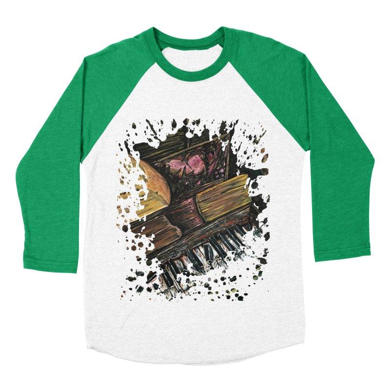 Broken Piano Men's Baseball Triblend T-Shirt by adamzworld's Artist Shop