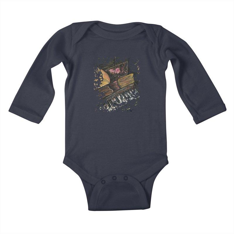 Broken Piano Kids Baby Longsleeve Bodysuit by adamzworld's Artist Shop