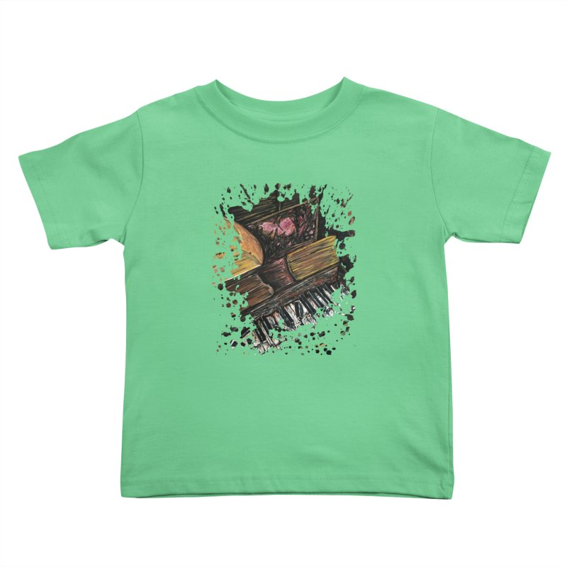 Broken Piano Kids Toddler T-Shirt by adamzworld's Artist Shop