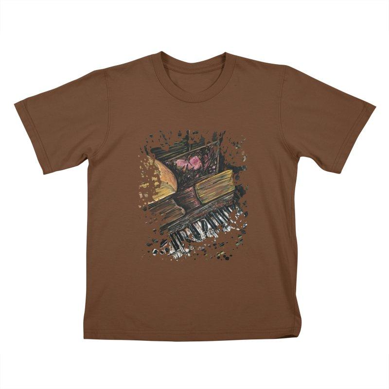 Broken Piano Kids T-shirt by adamzworld's Artist Shop