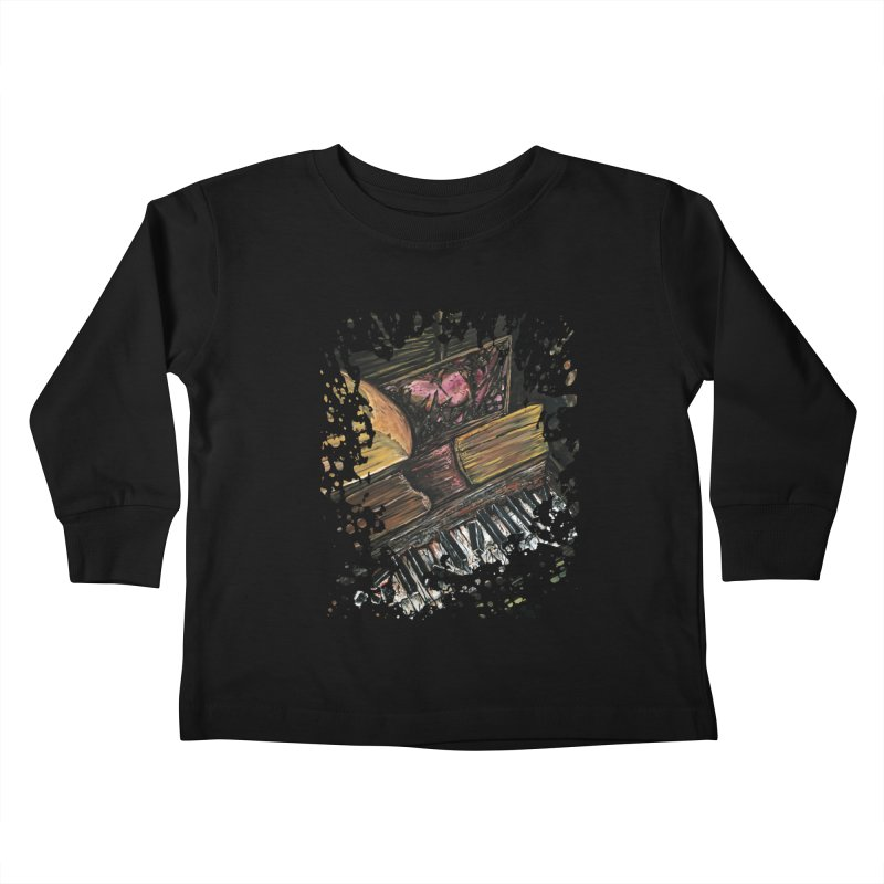 Broken Piano Kids Toddler Longsleeve T-Shirt by adamzworld's Artist Shop