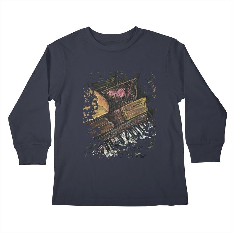 Broken Piano Kids Longsleeve T-Shirt by adamzworld's Artist Shop