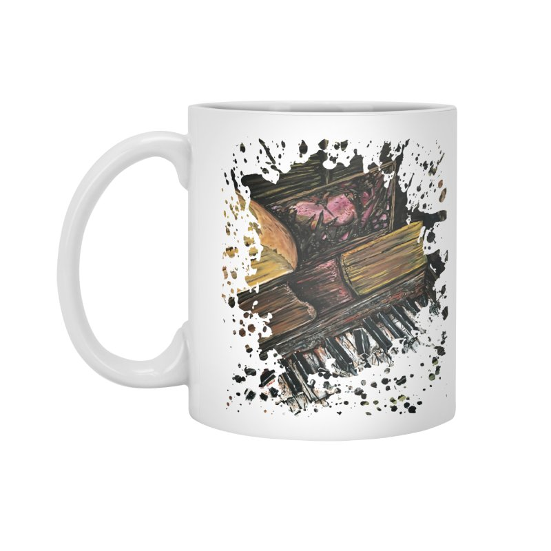Broken Piano Accessories Mug by adamzworld's Artist Shop