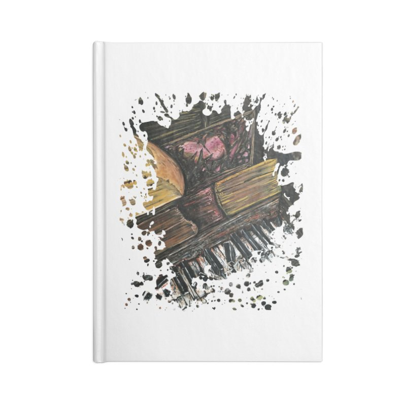 Broken Piano Accessories Notebook by adamzworld's Artist Shop