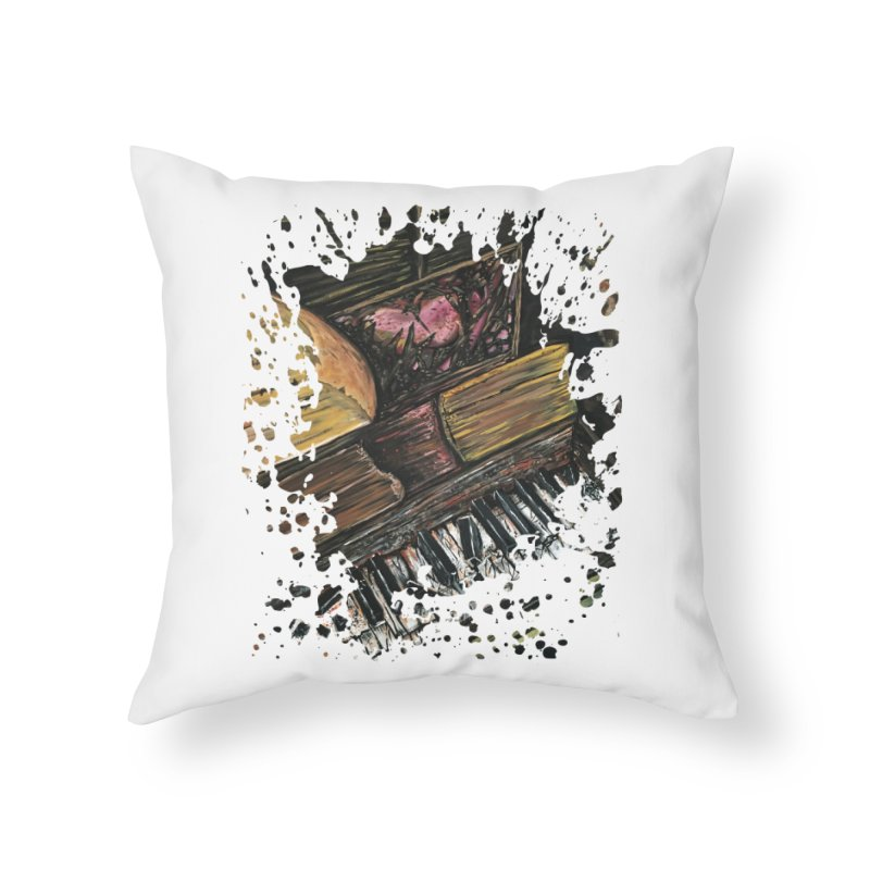Broken Piano Home Throw Pillow by adamzworld's Artist Shop