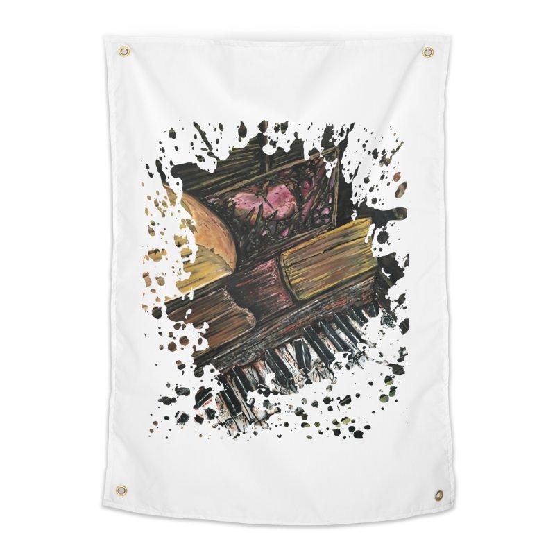 Broken Piano Home Tapestry by adamzworld's Artist Shop