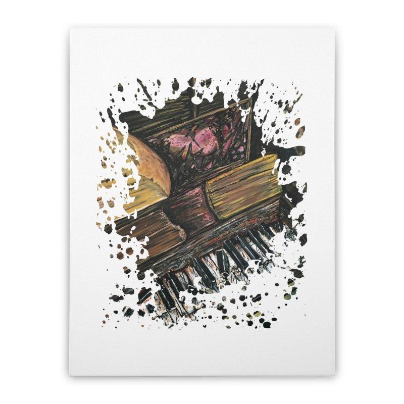 Broken Piano Home Stretched Canvas by adamzworld's Artist Shop