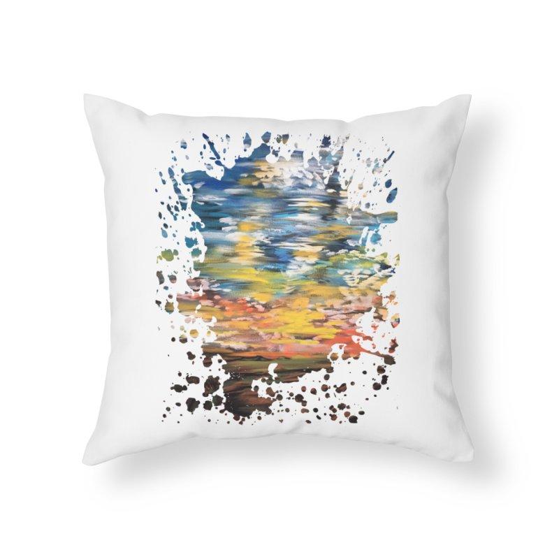 Sundown Home Throw Pillow by adamzworld's Artist Shop