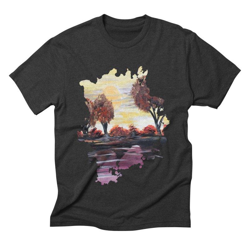 Autumn Sundown Men's Triblend T-shirt by adamzworld's Artist Shop