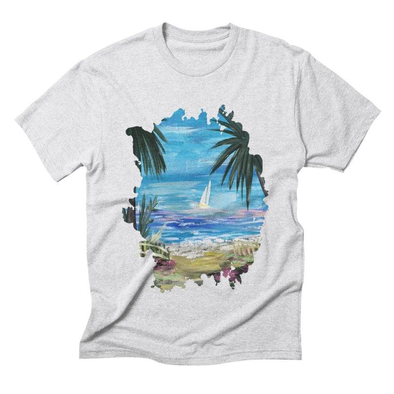 Caribbean Getaway Men's Triblend T-shirt by adamzworld's Artist Shop
