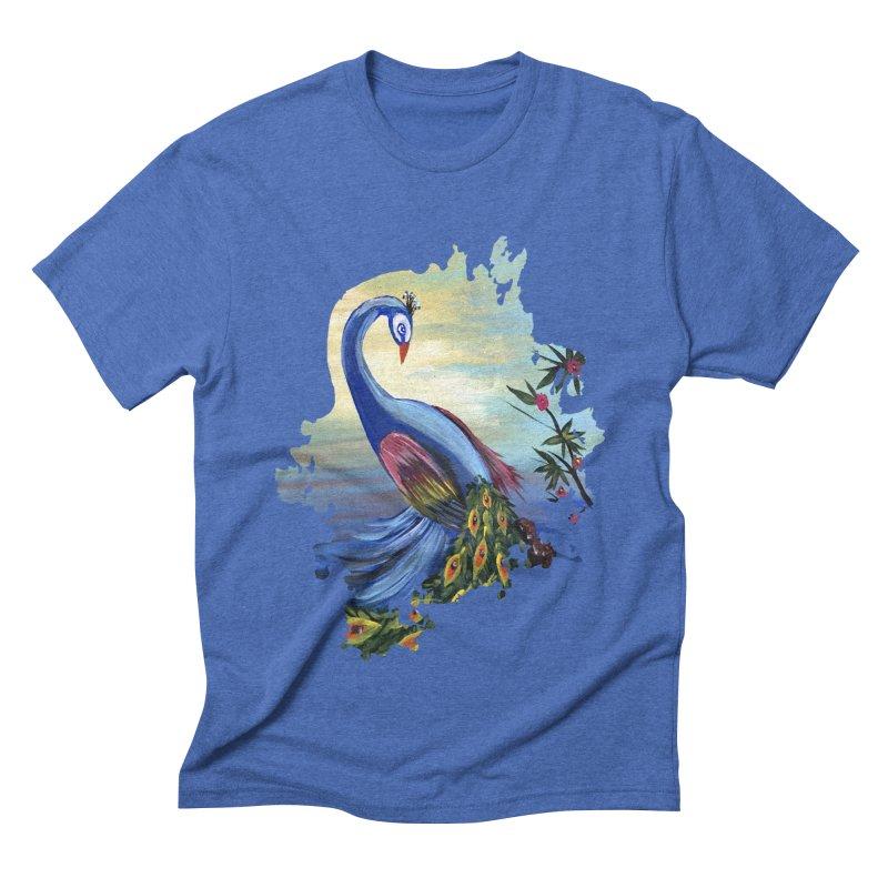 Peacock Life Men's Triblend T-shirt by adamzworld's Artist Shop