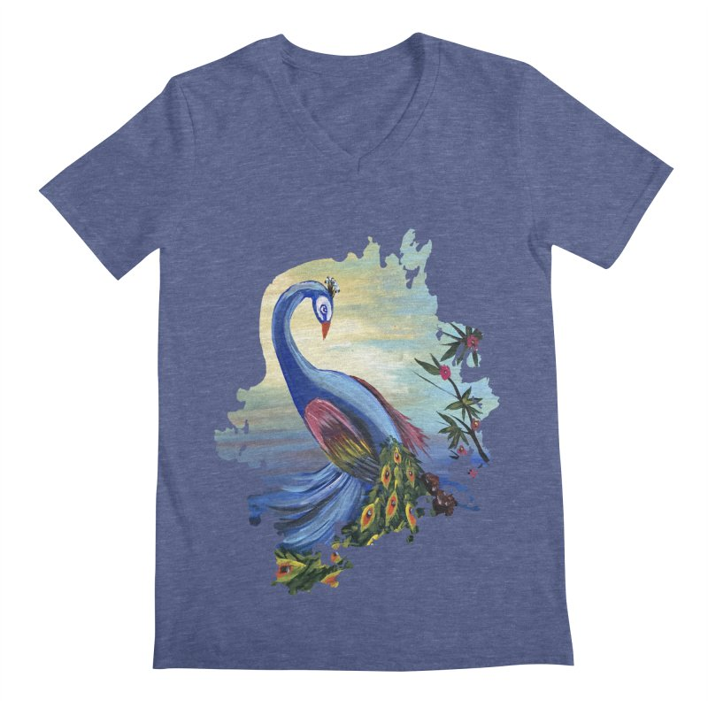Peacock Life Men's V-Neck by adamzworld's Artist Shop