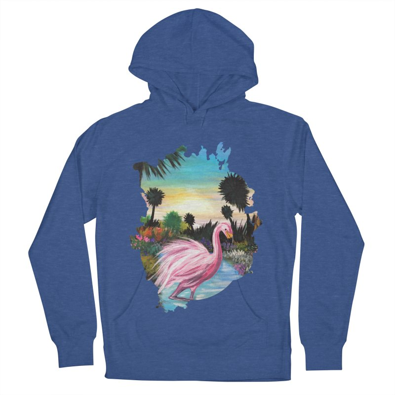 Flamingo Paradise Women's Pullover Hoody by adamzworld's Artist Shop