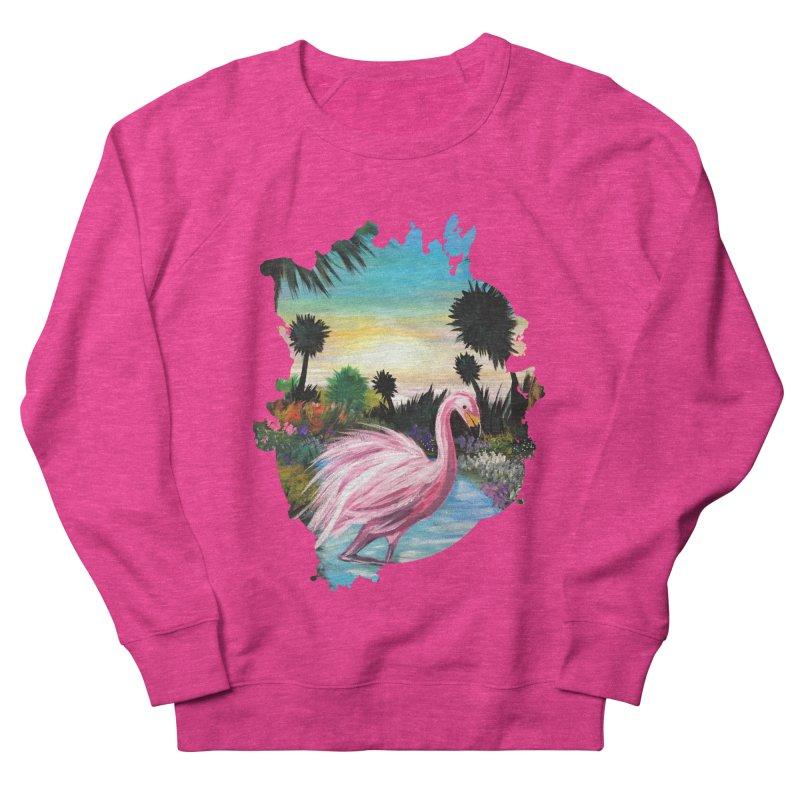 Flamingo Paradise Women's Sweatshirt by adamzworld's Artist Shop