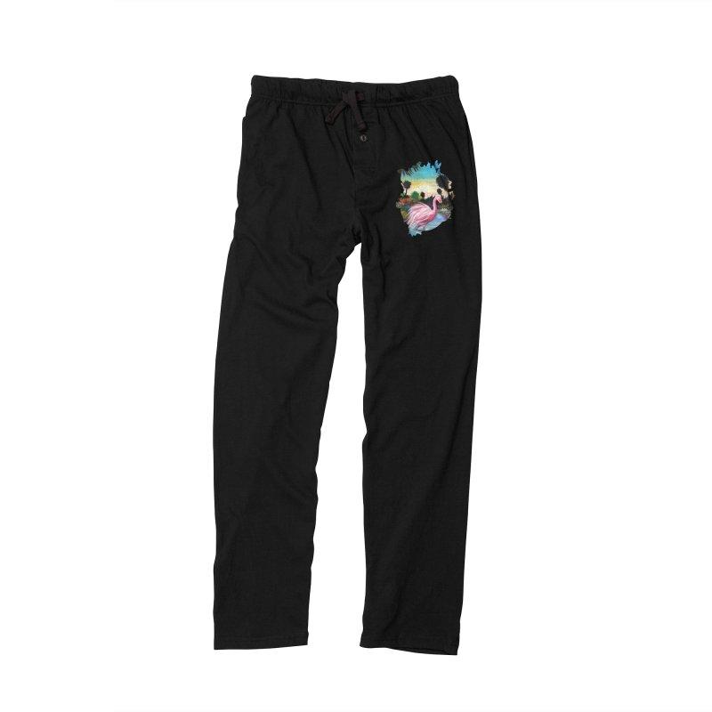 Flamingo Paradise Men's Lounge Pants by adamzworld's Artist Shop