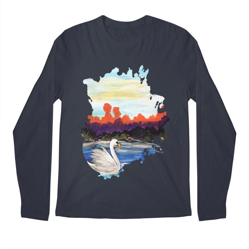Swan Life Men's Longsleeve T-Shirt by adamzworld's Artist Shop