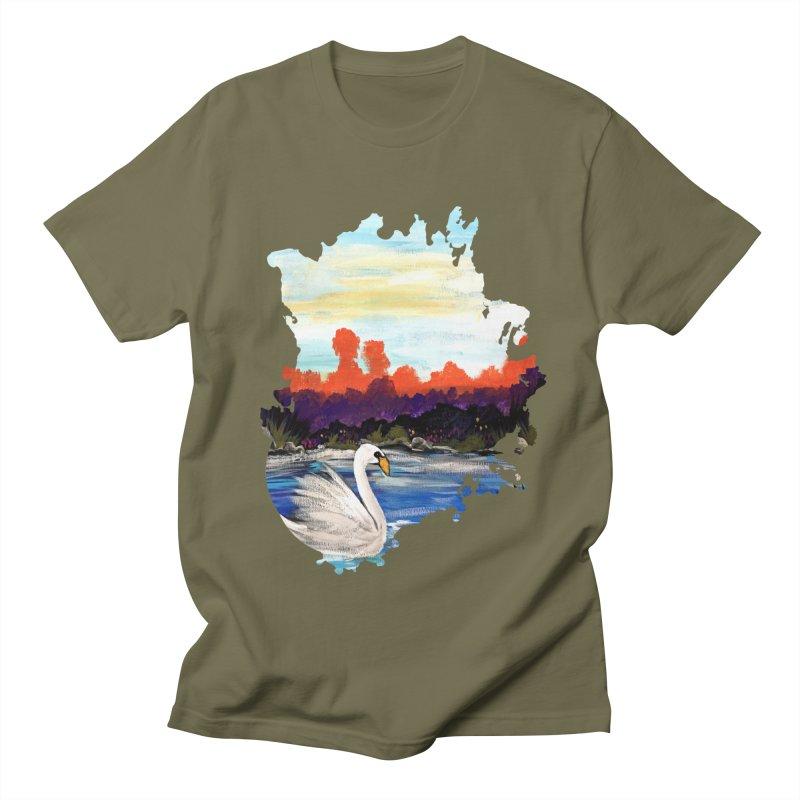 Swan Life Men's T-Shirt by adamzworld's Artist Shop