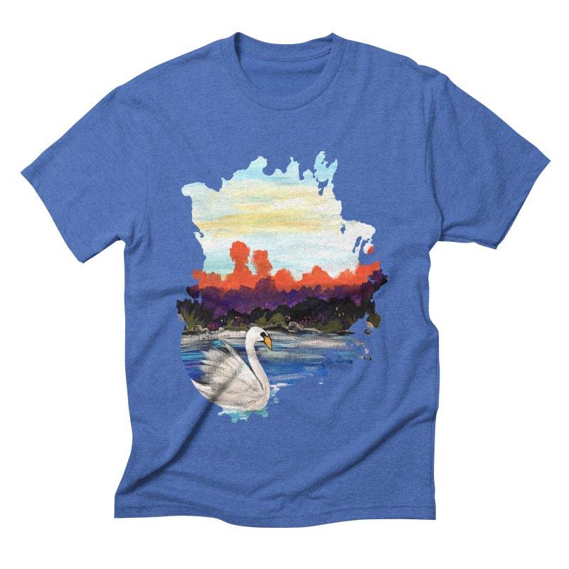 Swan Life Men's Triblend T-shirt by adamzworld's Artist Shop