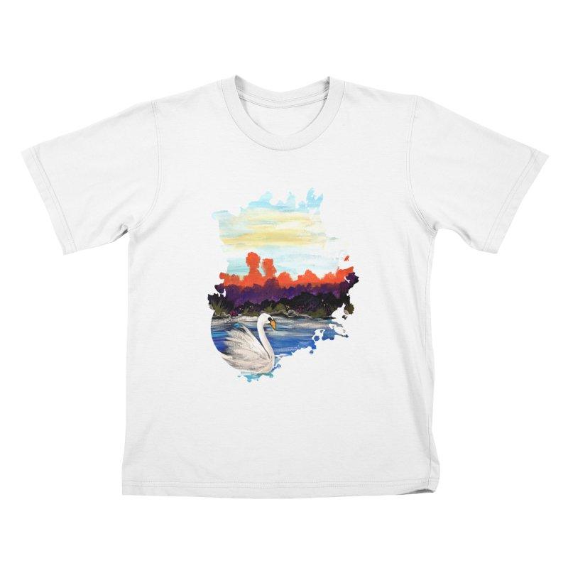 Swan Life Kids T-Shirt by adamzworld's Artist Shop