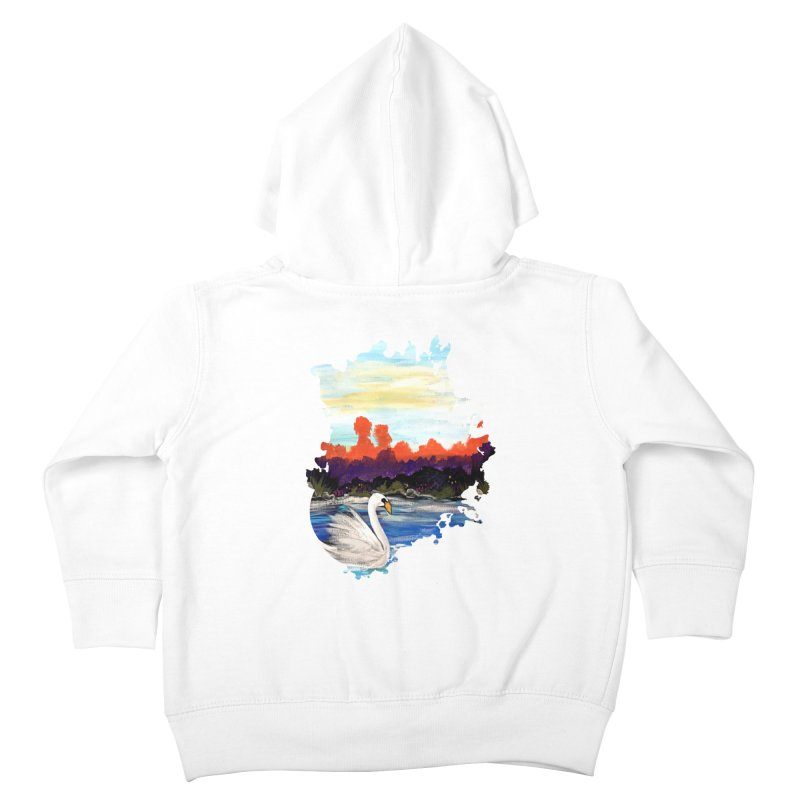 Swan Life Kids Toddler Zip-Up Hoody by adamzworld's Artist Shop
