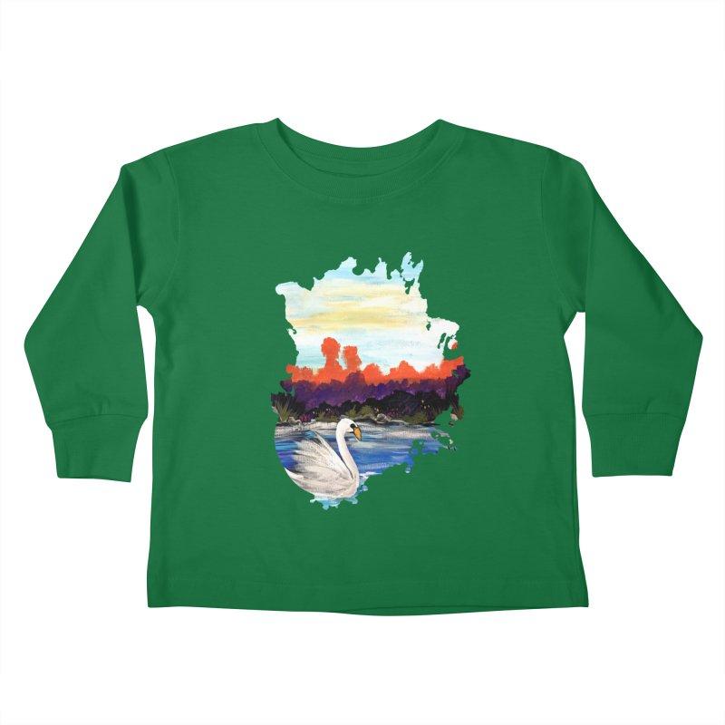 Swan Life Kids Toddler Longsleeve T-Shirt by adamzworld's Artist Shop
