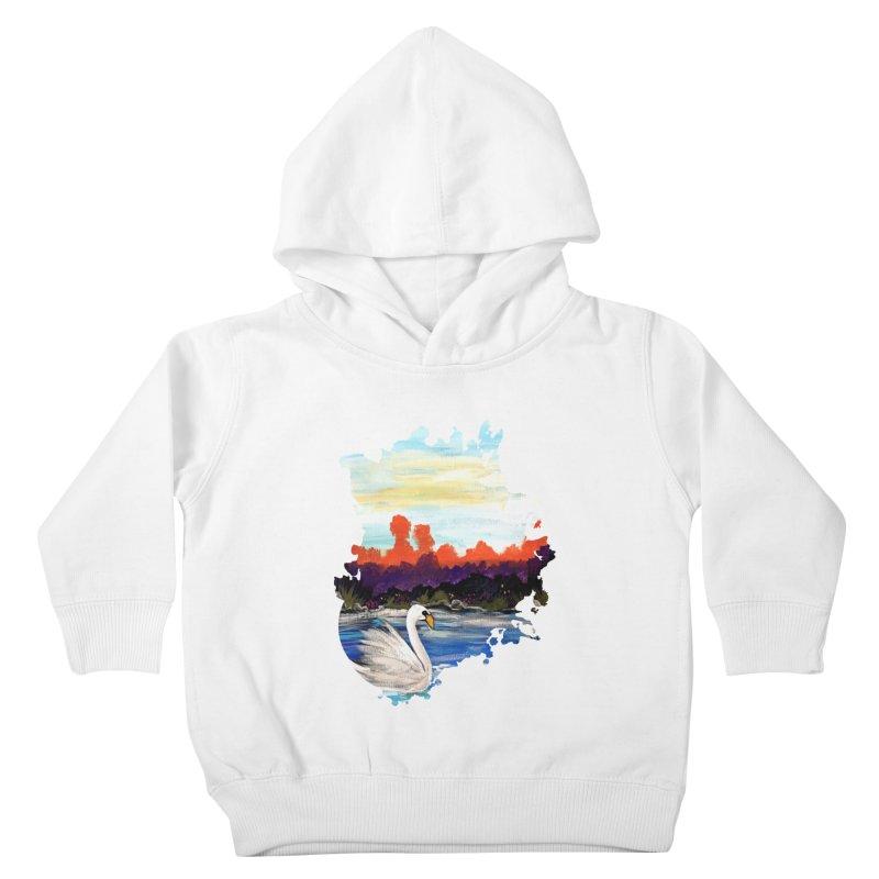 Swan Life Kids Toddler Pullover Hoody by adamzworld's Artist Shop