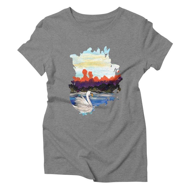 Swan Life Women's Triblend T-shirt by adamzworld's Artist Shop