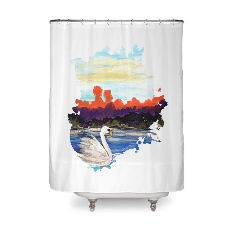 Swan Life Home Shower Curtain by adamzworld's Artist Shop