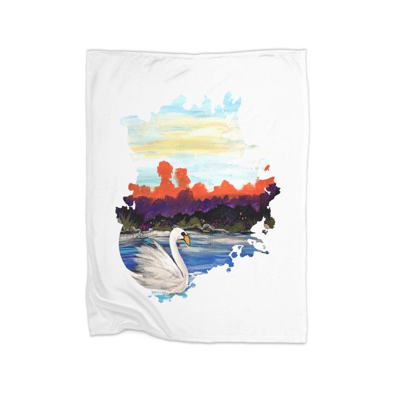Swan Life Home Blanket by adamzworld's Artist Shop