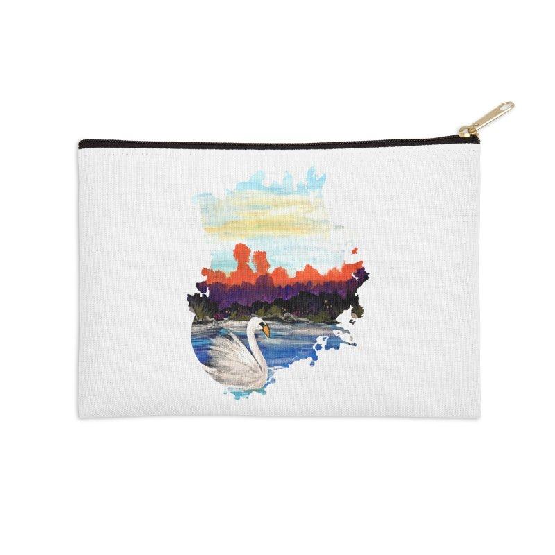Swan Life Accessories Zip Pouch by adamzworld's Artist Shop