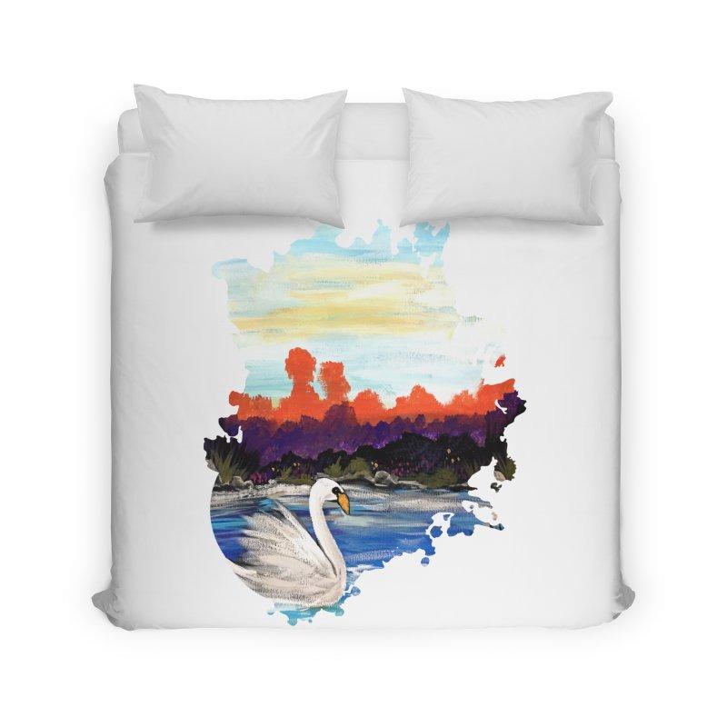 Swan Life Home Duvet by adamzworld's Artist Shop