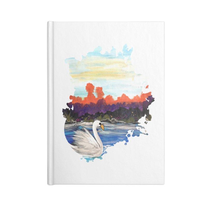 Swan Life Accessories Notebook by adamzworld's Artist Shop