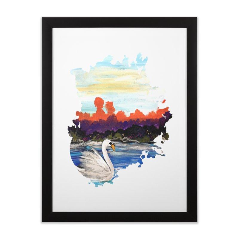 Swan Life Home Framed Fine Art Print by adamzworld's Artist Shop