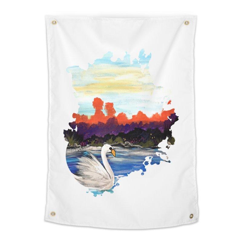Swan Life Home Tapestry by adamzworld's Artist Shop