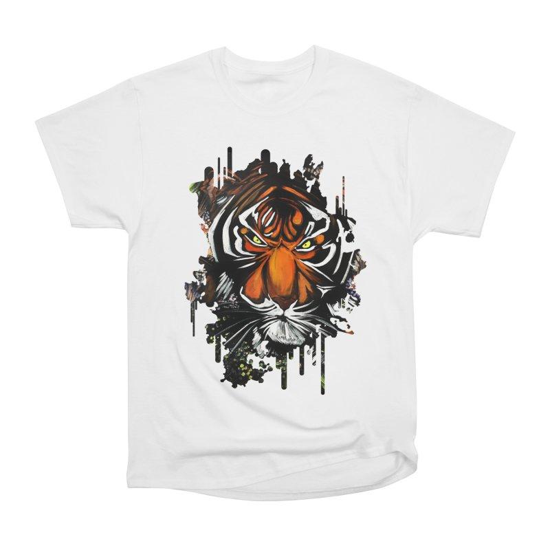 Tiger Stare Men's Classic T-Shirt by adamzworld's Artist Shop