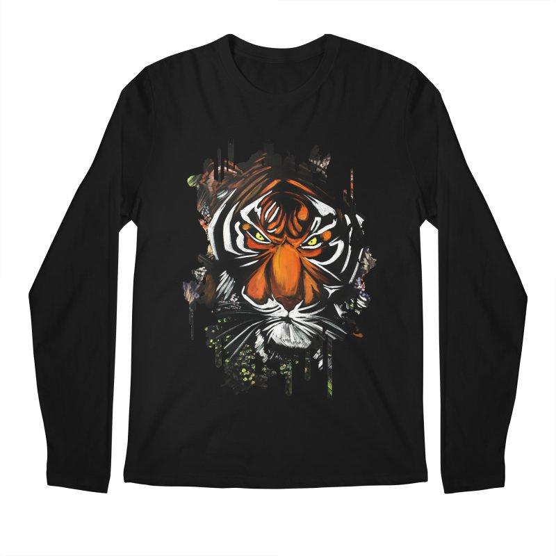 Tiger Stare Men's Longsleeve T-Shirt by adamzworld's Artist Shop