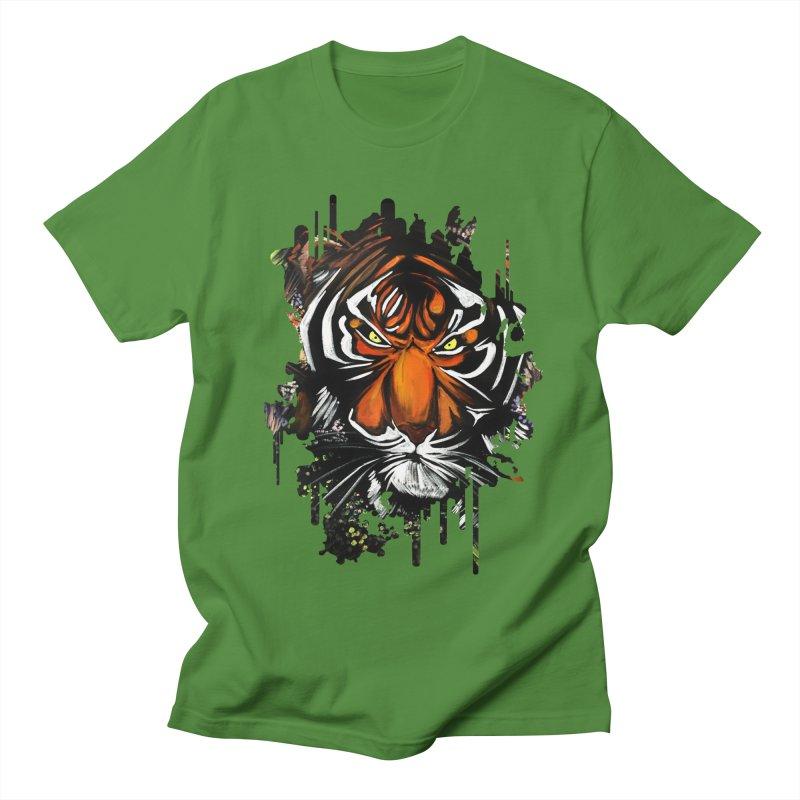 Tiger Stare Men's T-Shirt by adamzworld's Artist Shop