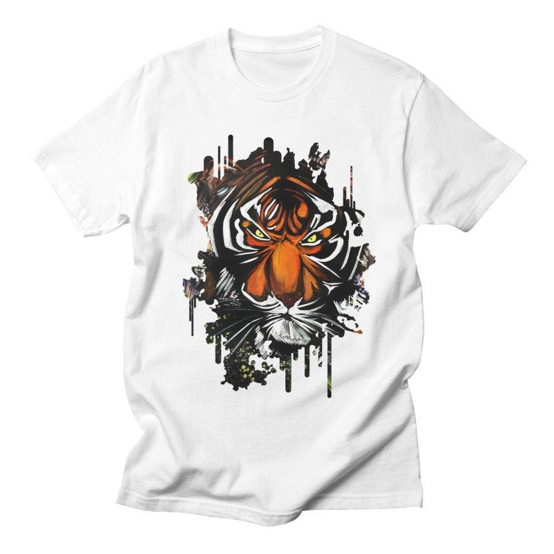Tiger Stare Women's Unisex T-Shirt by adamzworld's Artist Shop