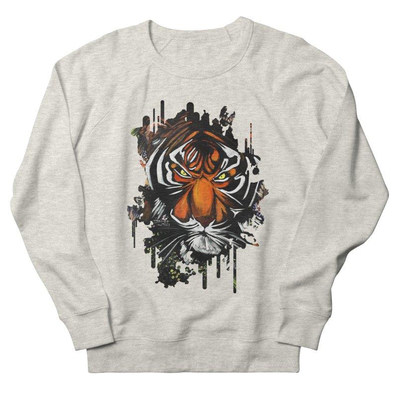 Tiger Stare Women's Sweatshirt by adamzworld's Artist Shop