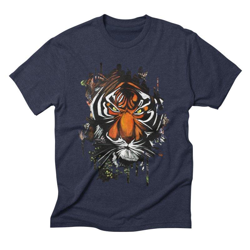 Tiger Stare Men's Triblend T-shirt by adamzworld's Artist Shop